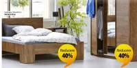 Reducere intre 20-40% la toate dulapurile si cadrele de pat