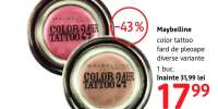 Fard de pleoape Maybelline Color Tattoo