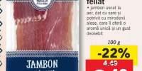Jambon crud-uscat, feliat