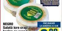Negro Salate icre/crap/hering cu ceapa