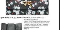 Portofel XLL cu decoratiune in forma de funda Corinne FLoral