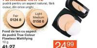 Fond de ten cu aspect de pudra True Colour Flawless Mattifying