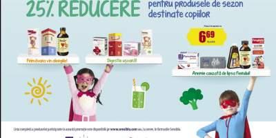 25% Reducere pentru produsele de sezon destinate copiilor