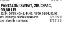 Set pantaloni sweat (2 buc/set)