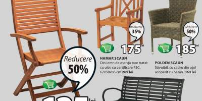 Reducere intre 20-50% la toate scaunele de gradina