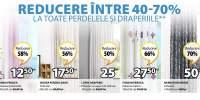 Reducere intre 40-70% la toate perdelele si draperiile