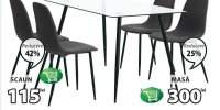 Set masa si scaune Ollerup + Jonstrup