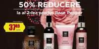 50% Reducere la al doilea produs Rose Pepper