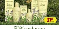 50% Reducere pentru al doilea produs cumparat din gamele parfumate L'Erbolario