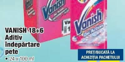 Vanish 18+6 aditiv indepartare pete 24 X 100 ml