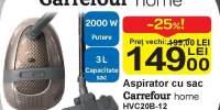 Aspirator cu sac Carrefour Home HVC20B-12
