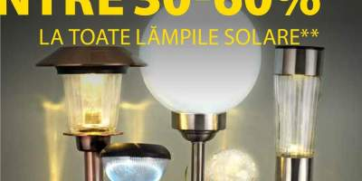 Reducere intre 30-60% la toate lampile solare!