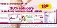 30% reducere la produsele pentru afectiunile vaginale