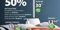 Reducere de 50% la articole baie