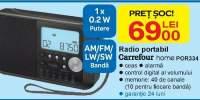 Radio portabil Carrefour Home POR334