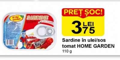 Sardine in ulei/sos tomat Home Garden