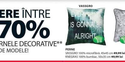 Reducere intre 30-70% la toate pernele decorative!