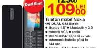 Telefon mobil Nokia 108 Dual Sim Black