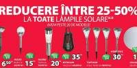 Reducere intre 25-50% la toate lampile solare