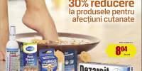 30% reducere la produsele pentru afectiuni cutante