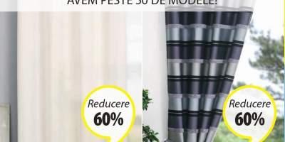 Reducere intre 30-60% la toate perdelele si draperiile