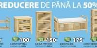 Reducere de pana la 50% la mobila din lemn