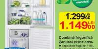 Combina frigorifica Zanussi ZRB33100WA