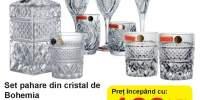 Set pahare din cristal de Bohemia