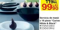 Serviciu de masa x 19 piese 'Carine White & Black'