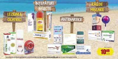 30% Reducere la antidiareice, medicamente rau de miscare si creme pentru intepaturi insecte, leziuni si cicatrici