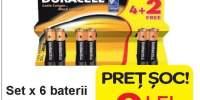 Set x 6 baterii 'Duracell'