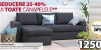 Reducere 25-40% la toate canapelele