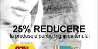 25% reducere la produsele pentru ingrijirea tenului