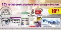 25% reducere la produsele pentru afectiuni oculare