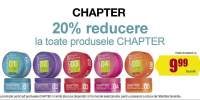 20% reducere la toate produsele Chapter