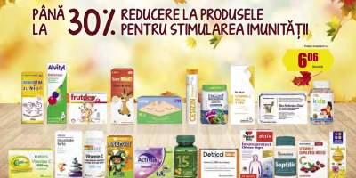 30% reducere la produsele pentru stimularea imunitatii