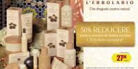 50% reducere pentru oricare al doilea produs L'Erbolario cumparat