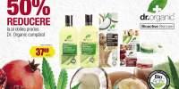 50% reducere pentru oricare al doilea produs Dr. Organic cumparat