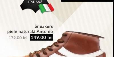 Sneakers piele naturala Antonio