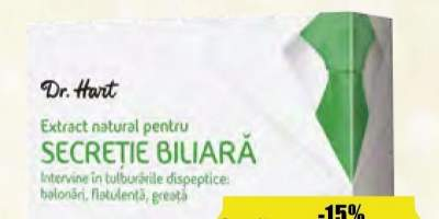 Dr. Hart extract natural secretie biliara
