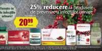 25% reducere la produsele de prevenire a infectiilor urinare!