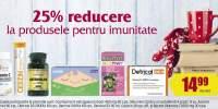 25% reducere la produsele pentru imunitate