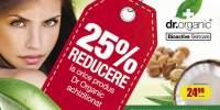 25% reducere la orice produs Dr Organic achizitionat