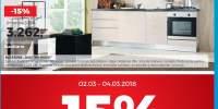 15% reducere la bucatariile Quattro Mobili