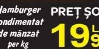 Hamburger condimentat de manzat