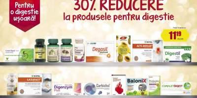30% reducere la produsele pentru digestie