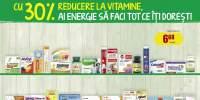 30% reducere la vitamine!