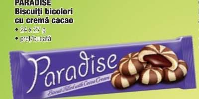 Paradise biscuiti bicolori cu crema cacao