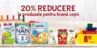 20% reducere la produsele pentru hrana copii