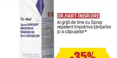 Spray repelent impotriva tantarilor si a capuselor Dr. Hart